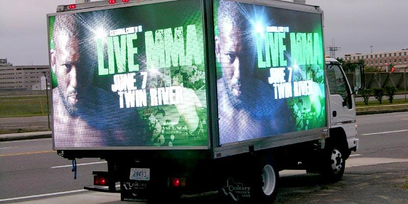 truck digital signage